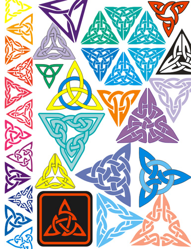 Celt clipart triangle Made Celtic Font Knotwork Knot