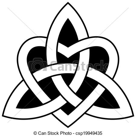 Celt clipart trinity knot Celtic Vectors knot with Trinity