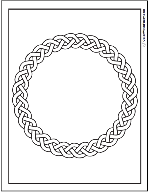 Celt clipart wreath Coloring Circle Scottish 90 Irish