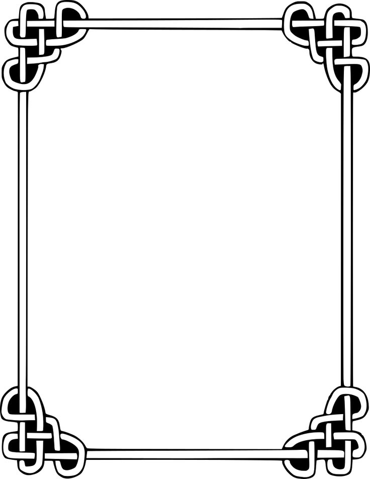 Celtic Knot clipart border Http://www 18 best com/page_frames/rope knot