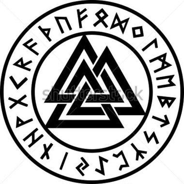 Celtic Knot clipart odin (380×380 rune  circle symbol
