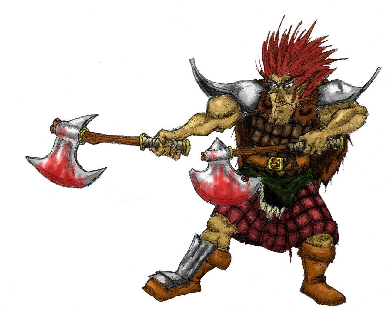 Celtic Warriors clipart highlander Color Warrior Scottish warrior Celtic