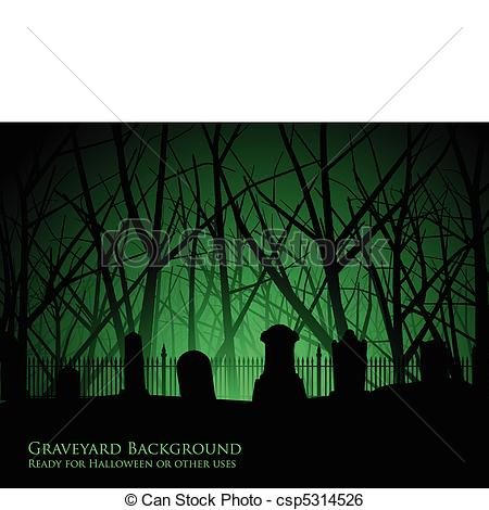 Cemetery clipart silhouette Of and Eerie trees Graveyard