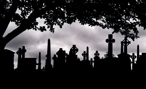 Cemetery clipart silhouette Graveyards Beautiful Mark:: ::By graveyard