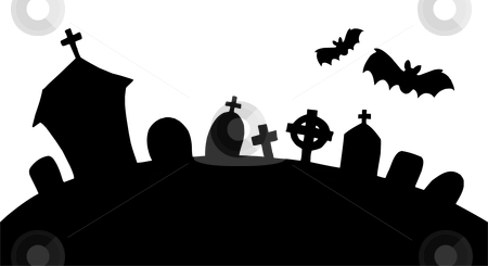 Haunted clipart halloween graveyard #15