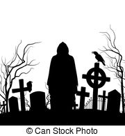 Cenetery clipart Royalty Silhouette 020 on of