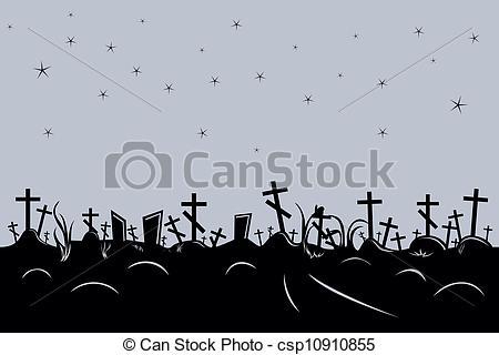 Cemetery clipart border Vector border black vector seamless