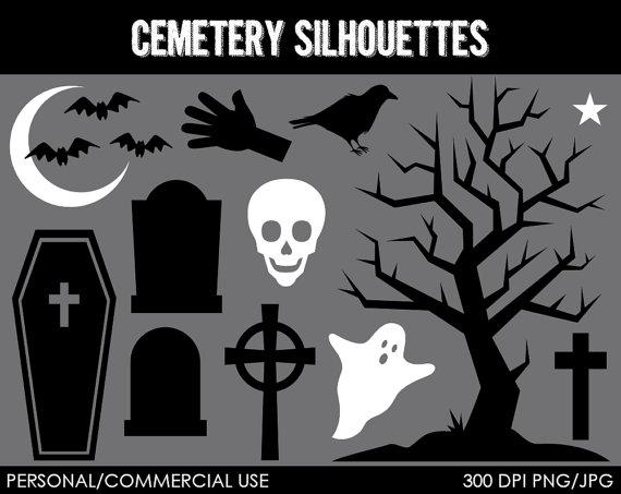 Cemetery clipart silhouette Cemetery%20clipart Free Clipart Cemetery Clipart