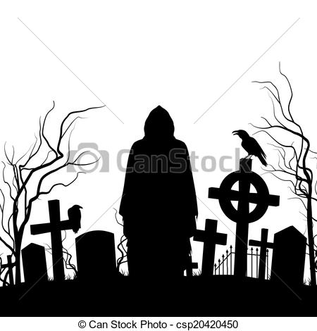 Cemetery clipart silhouette The on the Cemetery Cemetery