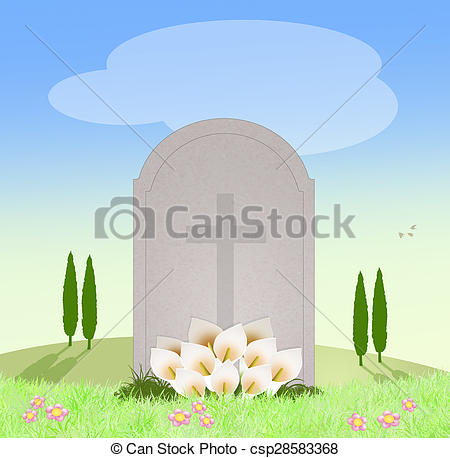 Cemetery clipart died In Stock tomb of of