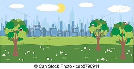 Central Park clipart illustration  Central Park Clipart
