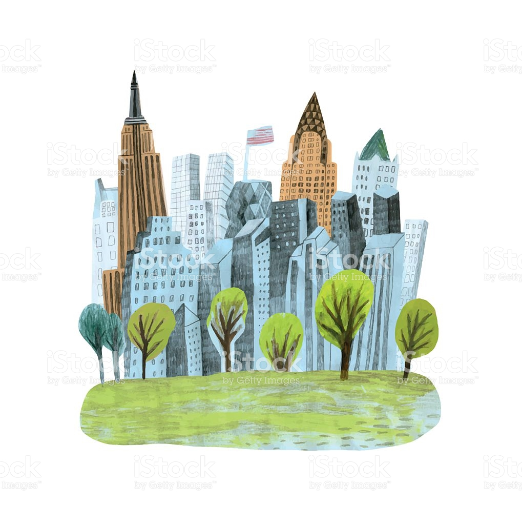 Central Park clipart illustration York city jpg in park