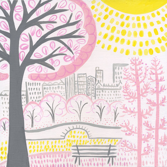Central Park clipart Painting Central Decor Manhattan Gift