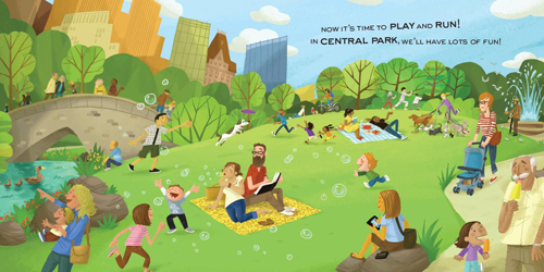 Central Park clipart To San and Baby