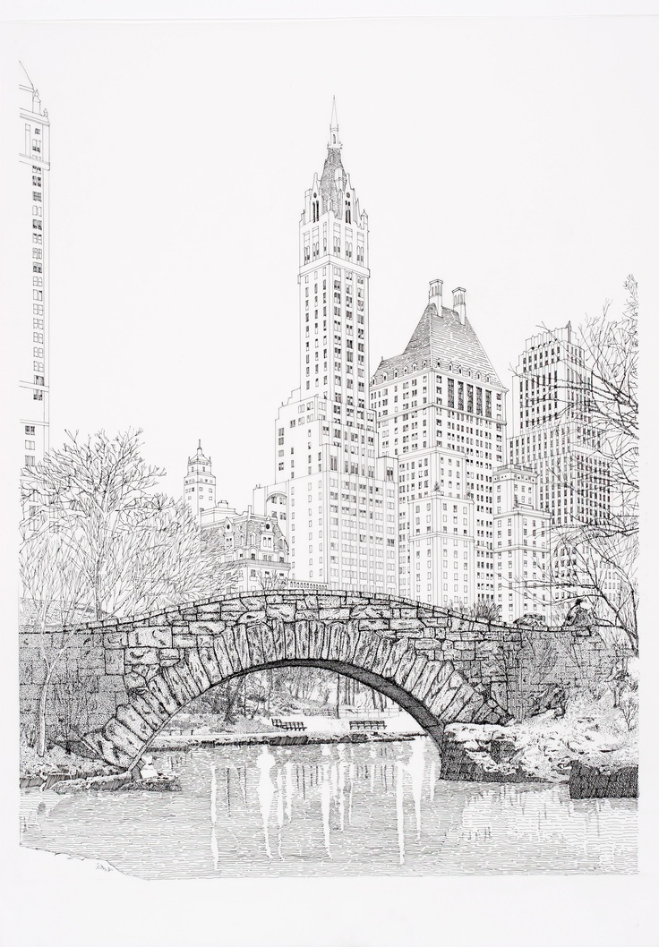 Central Park clipart illustration Ink Pin Just Central Park