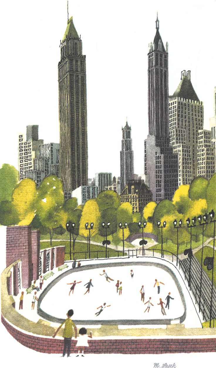 Central Park clipart illustration And on Pinterest and Watercolor