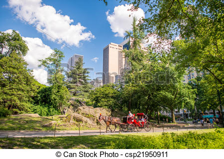 Central Park clipart Central New buil New Sourrounding