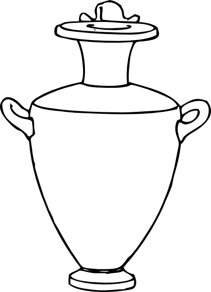 Drawn vase curved #13