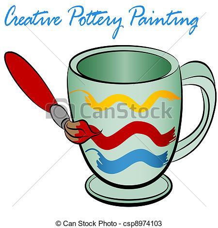 Ceramic clipart An a Vectors Creative cup