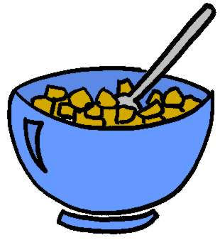 Cereal clipart funny Free Cartoon Clip Bowl Art