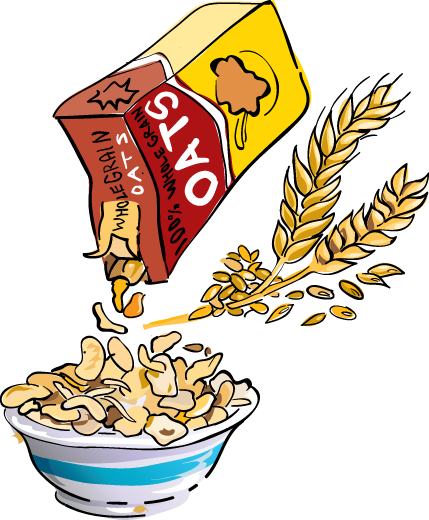 Oat clipart bowl porridge UK cereal Grain breakfast clipart