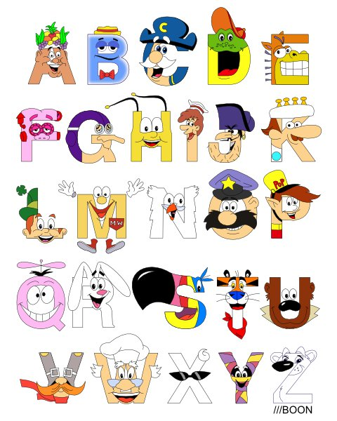 Cereal clipart alphabet Of craving a animated only