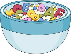 Cereal clipart alphabet Food Art and of Breakfast