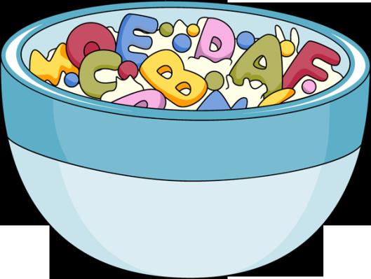 Cereal clipart alphabet للتصميم، التربوية ورود دفاتر و