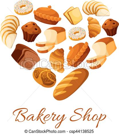 Cereal clipart baking bread And bun formed heart