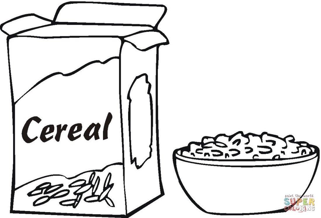 Cereal clipart black and white White art clipart Meatball clip
