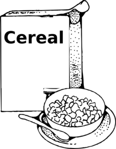 Cereal clipart black and white Art royalty com Art vector