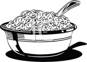 Cereal clipart black and white Free White Clipart Cereal And