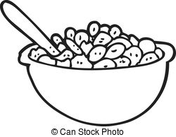 Cereal clipart black and white Clipart black Cereal and Vector
