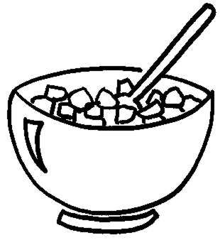 Cereal clipart black and white 20clipart Clipart Free Collection Bowl