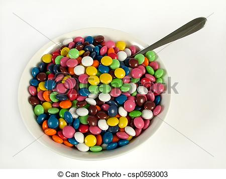 Cereal clipart bowl candy Colorful Colorful Clip Cereal –