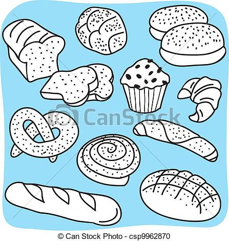 Grain clipart cereal Bread Vector hand goods Bakery