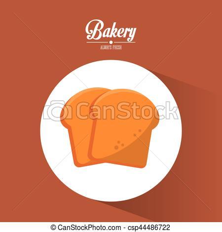 Cereal clipart bread baker Vector Vector  fresh sliced