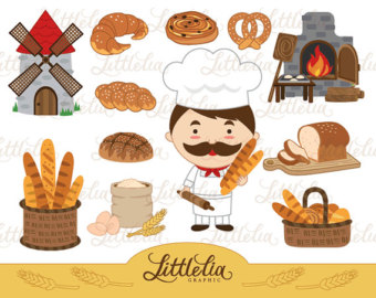 Cereal clipart bread baker Clipart Bakery 14030 download instant