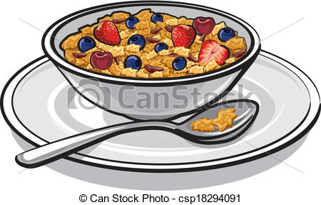 Cereal clipart breakfast plate Of csp18294091 Search breakfast Art