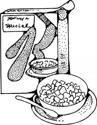Cereal clipart caja de Clip leche Art  Libre