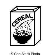 Cereal clipart caja de Bowl and box bowl