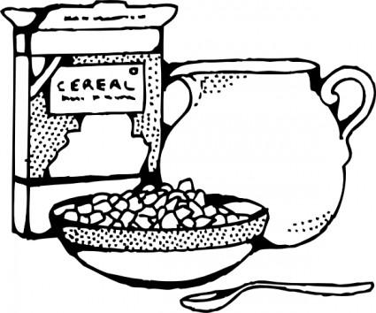 Cereal clipart caja de Y cereal Clip Art Vector
