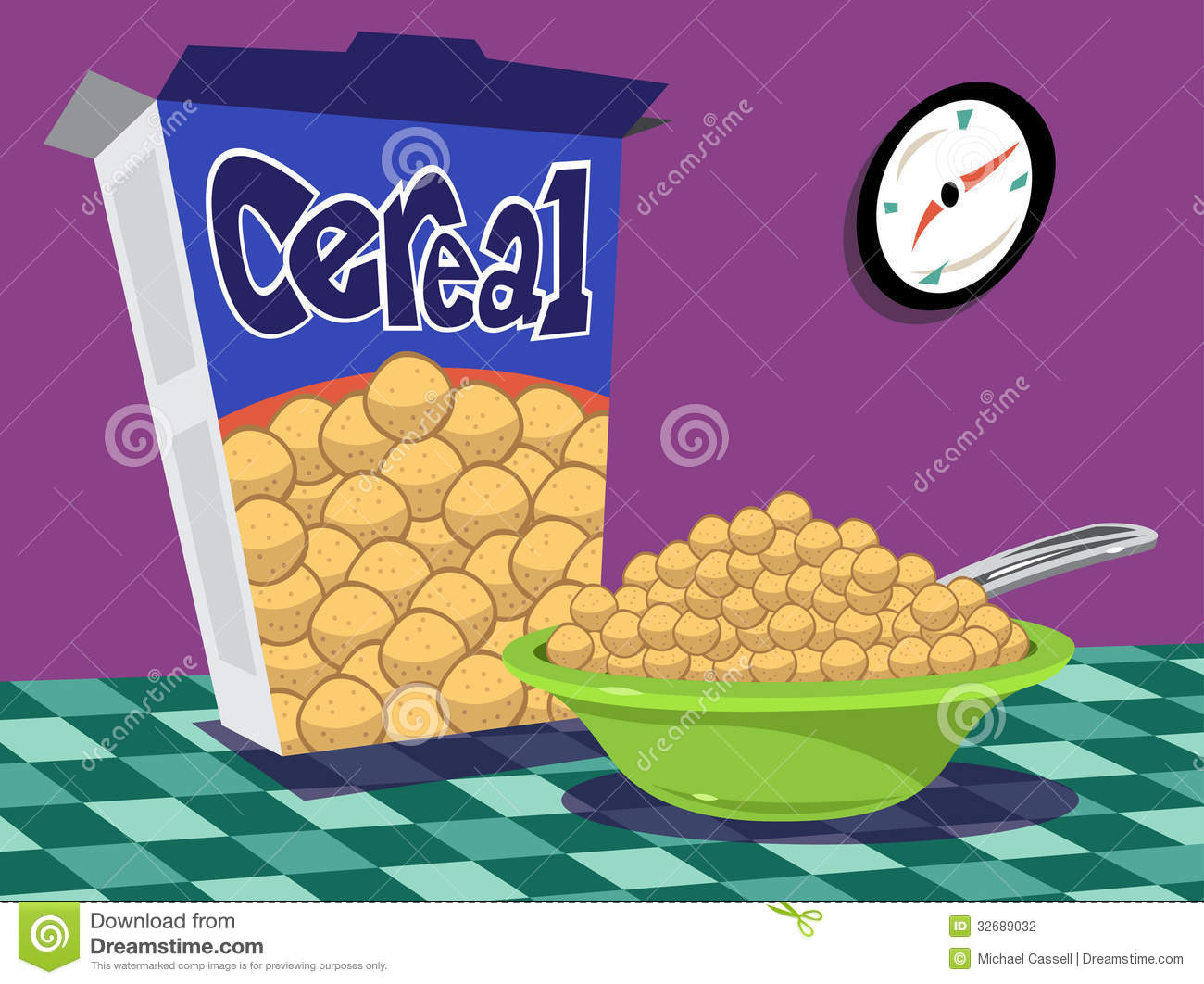 Cereal clipart caja de Bowl and clipart table cereal