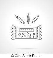 Granola clipart organic Thin icon Stock 26 bar