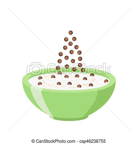 Cereal clipart chocolate And Cereal chocolate Flat balls