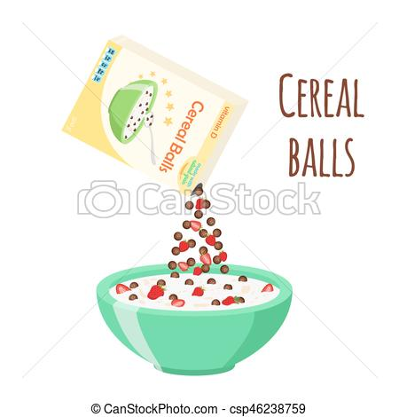 Cereal clipart chocolate With of chocolate breakfast balls