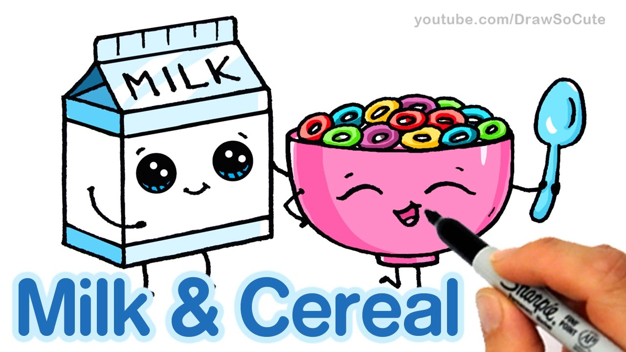 Milk Jug clipart milk cereal Easy and step Cute How