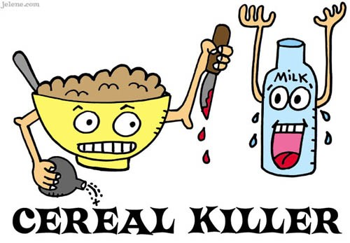 Cereal clipart funny Cartoon Print by Comic Killer