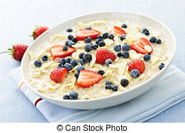 Oat clipart bowl porridge 546 oatmeal Photo hot berries