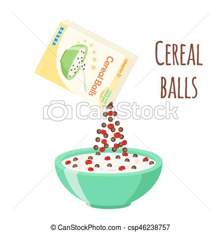 Oatmeal clipart milk Milk balls Cereal chocolate with
